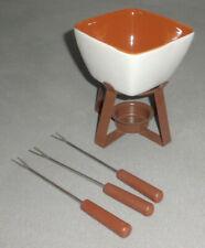 Mini Fondue Set für Teelicht mit Besteck