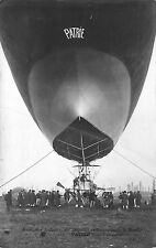 Real Photo Postcard Patrie French Military Dirigeable Zeppelin Airship~111669