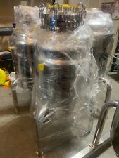 304 Stainless Steel Jacketed 150l Reactor Asme Certified With Manway Lid Usa