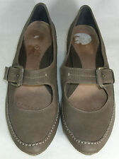 Clarks Brown Leather Mary Jane Shoes Heels UK 6