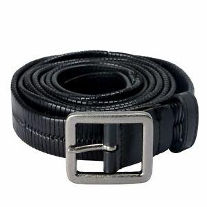 Versace 100% Leather Black Men's Double Wrap Belt Sz 38 42 44