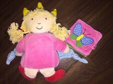 Pupazzetto Regina Bambola Principessa Coppenrath 24cm Mantella CORONA PINK ROSA LIBRO