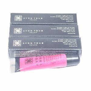 Lot of 3 Avon True Color Glossy Tube Lip Gloss - PINK BURST