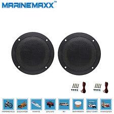 160W 4 Inch 2 Way Waterproof Marine/Boat Powered ATV UTV Speakers Stereo System