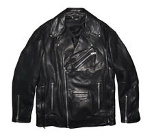 DIESEL BLACK GOLD LOGHAN LEATHER JACKET OVERSIZED SIZE 48 (M) 100% AUTHENTIC