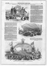 1849 tren real Berwick Upon Tweed puente de alto nivel Newcastle aire Sifón Venti