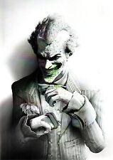 Arkham Asylum JOKER Black & White w Green Pin Up Print DC Batman