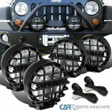 "4X 6"" Round Black Offroad Super 4X4 Work Fog Light+H3 Bulb+Relay+Wiring Kit"