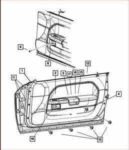 Door Reveal Molding Mopar 68071960AA fits 08-11 Dodge Challenger