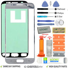 Samsung Galaxy S7 Replacement Screen Front Glass Outer lens Repair Kit SILVER UK