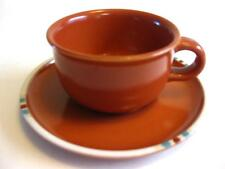 "EUC DANSK ""MESA TERRACOTTA PATTERN"" CUP AND SAUCER 5 OZ., Made in Japan"