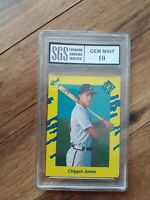 1990 Classic Yellow Chipper Jones Atlanta Braves #T92 Baseball Card