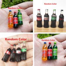 1:12 Miniature Dollhouse Sprite Fanta Drink Figure Coca Cola Glass Bottle Decor