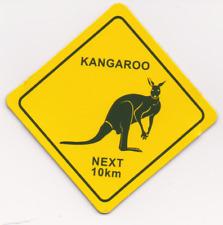 Kühlschrank - Magnet: Australien: Verkehrsschild: Känguru - preisgesenkt!!!