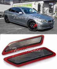 For 14-Up BMW 5-Series F10 CRYSTAL SMOKE Side Marker Lights Bumper Reflector