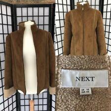 Ladies Brown Next sheepskin look jacket size 14 - IMMACULATE