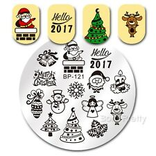 Nail Art Stamping Hello 2017 Theme DIY Manicure Image Plate BP 121