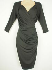 BNWT Savoir Confident Curves Secret Support Black Wrap Effect Dress Size 12