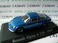 RBA33G voiture 1/43 Italie IXO : RENAULT Alpine A110 1969