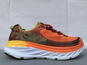 Hoka One One Bondi 5 Orange Fire White Athletic Road Running Shoes Men's 9.5