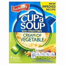 Batchelors Cup a Soup Cream of Vegetable 4 Sachets 122g - Sold Worldwide from UK
