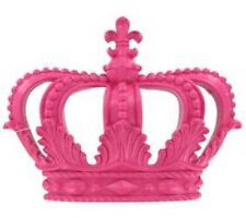 Pink crown Glossy  plaque cross princess tiara resin wall hanging decor New
