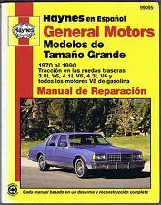 Haynes en Español General Motors Modelos de Tamaño Grande 1970-90 #99095
