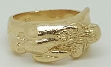 10k Yellow Gold Kama Sutra Erotic Hot Couple Sexy Love Position 69 Ring Men/Lady