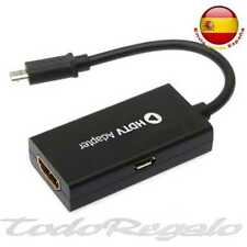 5e7c19890 Cable MHL Micro USB A HDMI HD TV Ideal para Conectar Movil a Televisón  SAMSUNG