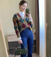 Zara AW2020 Argyle Knit Wool Blend Cardigan Size L Bloggers Fave Sold out