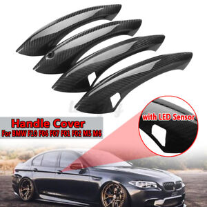 For BMW F10 F06 F07 F01 F02 5 6 7 Series M5 M6  Carbon Fiber Door Handle Cover