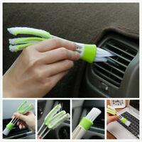 Car/Home Vent Air-Condition Blind Cleaner Keyboard Duster 2 Heads Cleaning Brush