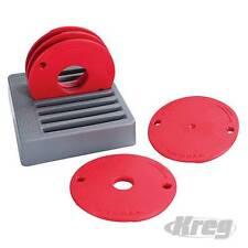 Anelli riduttori per banco fresa KREG 5pz con valigetta varie misure Prezzo