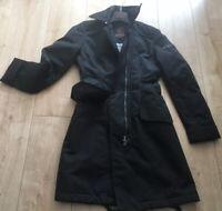 PEUTEREY Sommermantel Gr. 34 IT 40 Schwarz  Damen Jacke Jacket Coat Regenjacke