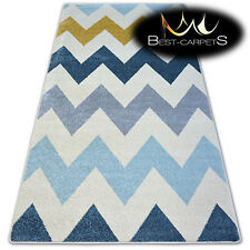 """AMAZING THICK MODERN SOFT RUGS """"NORDIC"""" yellow zigzag floor carpet small large"""