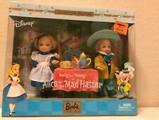 Disney Barbie Kelly And Tommy As Alice And The Mad Hatter Collector Edition New