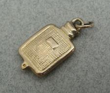 Good Vintage 9ct Gold HOT WATER BOTTLE CHARM / Pendant. 1967