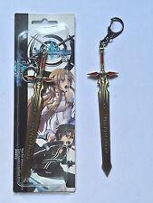 Sword Art Online Anime Kirito Keychain KeyRing Dark Repulser Sword Pendant USA.
