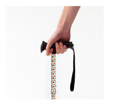 Petite Spotty Adjustable Height  Foldable Walking Stick Cane With Soft Grip