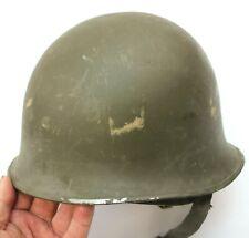 More details for french army m51 steel helmet + plastic inner helmet (no3)