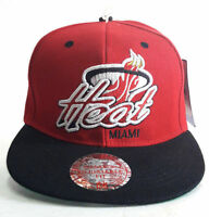 NBA Miami Heat Hat Cap Mitchell Ness Snapback 2 Color Tone One Size New