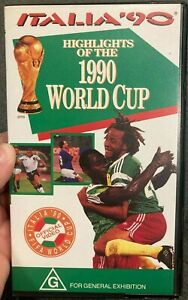 Italia '90 - Highlights Of The 1990 World Cup VHS VIDEO TAPE (sports / soccer)
