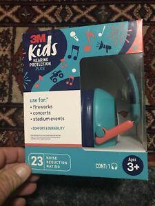 3M Kids Hearing Protection 23 NRR ,Concerts,Fireworks,Stadium Events,Foldup,Comf