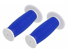 Bicycle Handle Bar Mushroom Grip White and Blue BMX Boys And Girl Bikes 163198