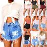 Women's Ripped Shorts Jeans High Waist Mini Casual  Beach Hot Summer Denim Pants
