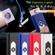 Lighter USB Rechargeable Electric Flameless Fire Lighter Cigarette kit Windproof