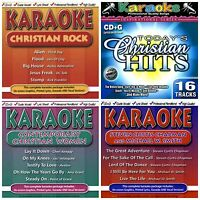 4 new CHRISTIAN POP/ROCK KARAOKE CDs LOT Michael W Smith,Third Day,Jars of Clay+