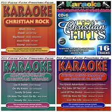 4 used CHRISTIAN POP/ROCK KARAOKE CDs LOT Michael W Smith,Third Day,Jars of Clay