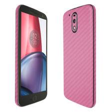Skinomi Pink Carbon Fiber Skin & Screen Protector for Motorola Moto G4 Plus
