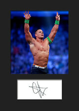 JOHN CENA #2 (WWE) Signed Photo A5 Mounted Print - FREE DELIVERY
